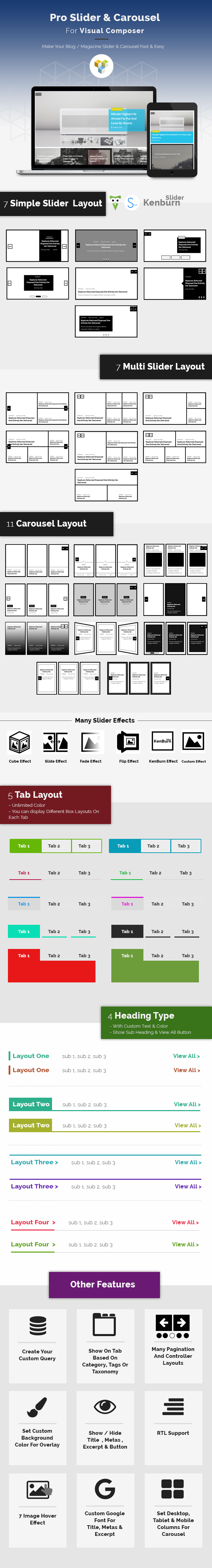 Pro Slider & Carousel Layout for Visual Composer : Amazingly Display Post & Custom Post - 1