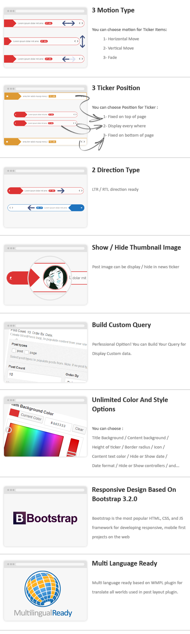 Post Layout : News Ticker for Visual Composer - 3